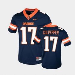 Men Syracuse Orange Rex Culpepper College Football Game Navy Jersey