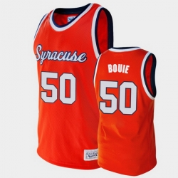 Men Syracuse Orange Roosevelt Bouie Alumni Orange College Basketball Jersey