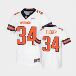 Men Syracuse Orange Sean Tucker Untouchable Game White Jersey