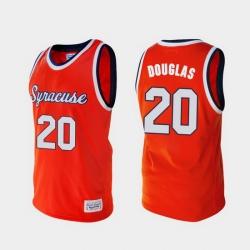 Men Syracuse Orange Sherman Douglas Alumni Orange College Baketball Jersey