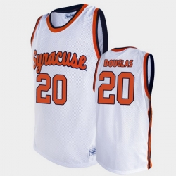 Men Syracuse Orange Sherman Douglas Alumni White Basketball Jersey