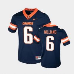 Men Syracuse Orange Trill Williams College Football Game Navy Jersey