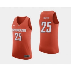 Men Syracuse Orange Tyus Battle Orange College Basketball Jersey