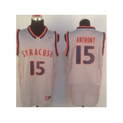 NBA Jersey Nyx NCAA Syracuse 15# Carmelo Anthony Grey Jerseys