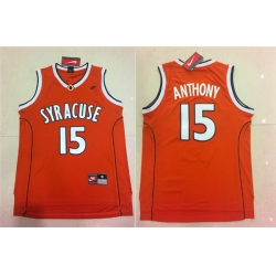 Nike NCAA Syracuse Orange 15 Camerlo Anthony Orange Jersey