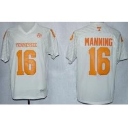 Tennessee Volunteers 16 Peyton Manning White Techfit NCAA Jersey