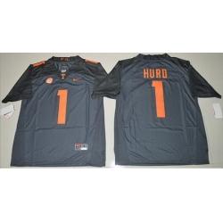 Vols #1 Jalen Hurd Grey Limited Stitched NCAA Jersey