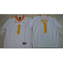 Vols #1 Jalen Hurd White Limited Stitched NCAA Jersey