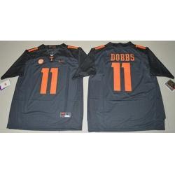 Vols #11 Joshua Dobbs Grey Limited Stitched NCAA Jersey