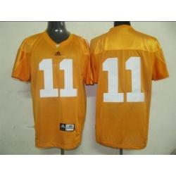 Vols #11 Orange Embroidered NCAA Jersey