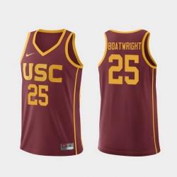 Men Usc Trojans Bennie Boatwright Cardinal Replica College Basketball Jersey