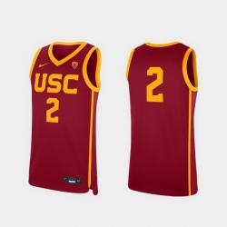 Men Usc Trojans Cardinal Replica College Basketball Jersey