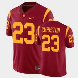Men Usc Trojans Kenan Christon College Football Cardinal Alumni Player Game Jersey
