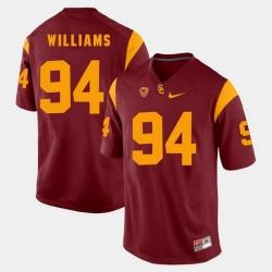 Men Usc Trojans Leonard Williams Pac 12 Game Red Jersey