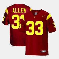 Men Usc Trojans Marcus Allen College Football Red Jersey
