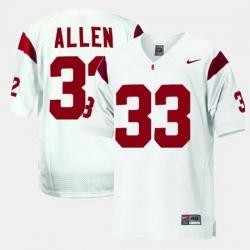 Men Usc Trojans Marcus Allen College Football White Jersey