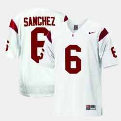 Men Usc Trojans Mark Sanchez College Football White Jersey