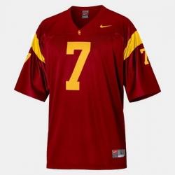 Men Usc Trojans Matt Barkley College Football Red Jersey