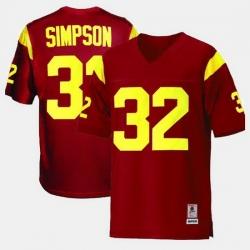 Men Usc Trojans O.J. Simpson College Football Red Jersey