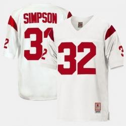 Men Usc Trojans O.J. Simpson College Football White Jersey