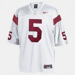 Men Usc Trojans Reggie Bush College Football White Jersey