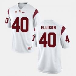 Men Usc Trojans Rhett Ellison Pac 12 Game White Jersey