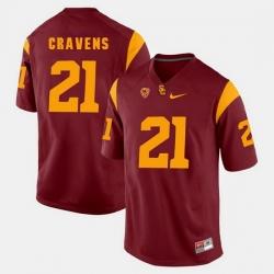Men Usc Trojans Su'A Cravens Pac 12 Game Red Jersey