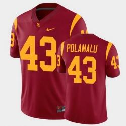 Men Usc Trojans Troy Polamalu College Football Cardinal Alumni Player Game Jersey