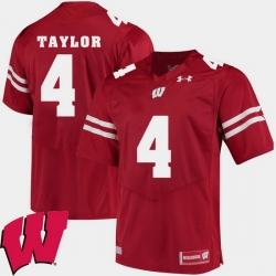 Men Wisconsin Badgers A.J. Taylor Red Alumni Football Game Ncaa 2018 Jersey