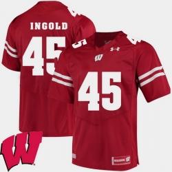 Men Wisconsin Badgers Alec Ingold Red Alumni Football Game Ncaa 2018 Jersey