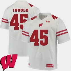 Men Wisconsin Badgers Alec Ingold White Alumni Football Game Ncaa 2018 Jersey