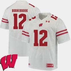 Men Wisconsin Badgers Alex Hornibrook White Alumni Football Game Ncaa 2018 Jersey
