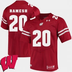 Men Wisconsin Badgers Austin Ramesh Red Alumni Football Game Ncaa 2018 Jersey