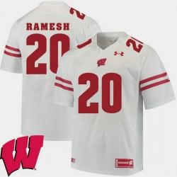 Men Wisconsin Badgers Austin Ramesh White Alumni Football Game Ncaa 2018 Jersey