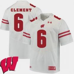 Men Wisconsin Badgers Corey Clement White Alumni Football Game Ncaa 2018 Jersey