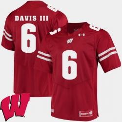 Men Wisconsin Badgers Danny Davis Iii Red Alumni Football Game Ncaa 2018 Jersey