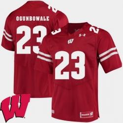 Men Wisconsin Badgers Dare Ogunbowale Red Alumni Football Game Ncaa 2018 Jersey