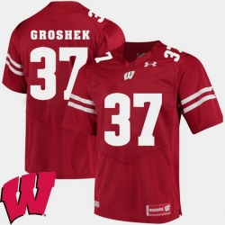 Men Wisconsin Badgers Garrett Groshek Red Alumni Football Game Ncaa 2018 Jersey