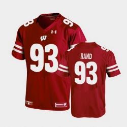 Men Wisconsin Badgers Garrett Rand Replica Red Football Jersey