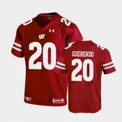 Men Wisconsin Badgers Isaac Guerendo Replica Red Football Jersey