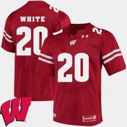 Men Wisconsin Badgers James White Red Alumni Football Game Ncaa 2018 Jersey