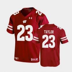 Men Wisconsin Badgers Jonathan Taylor Replica Red Football Jersey