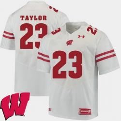 Men Wisconsin Badgers Jonathan Taylor White Alumni Football Game Ncaa 2018 Jersey