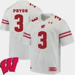 Men Wisconsin Badgers Kendric Pryor White Alumni Football Game Ncaa 2018 Jersey