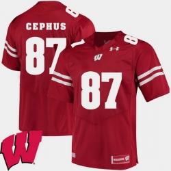 Men Wisconsin Badgers Quintez Cephus Red Alumni Football Game Ncaa 2018 Jersey