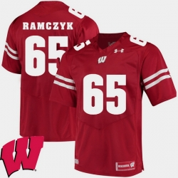 Men Wisconsin Badgers Ryan Ramczyk Red Alumni Football Game Ncaa 2018 Jersey