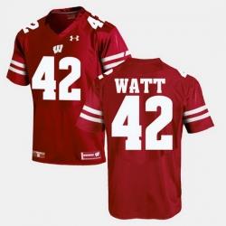 Men Wisconsin Badgers T.J Watt Alumni Football Game Red Jersey