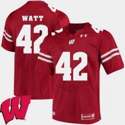 Men Wisconsin Badgers T.J. Watt Red Alumni Football Game Ncaa 2018 Jersey
