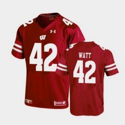 Men Wisconsin Badgers T.J. Watt Replica Red Football Jersey