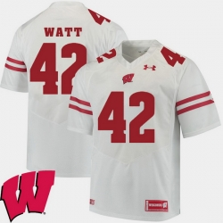 Men Wisconsin Badgers T.J. Watt White Alumni Football Game Ncaa 2018 Jersey